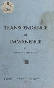 André Neher et Richard Neher - Transcendance et immanence.