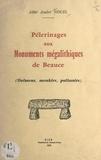 André Nouel - Pélerinages aux monuments mégalithiques de Beauce - Dolmens, menhirs, polissoirs.