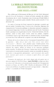 André Pachod - La morale professionnelle des instituteurs - Code Soleil et Ferré.