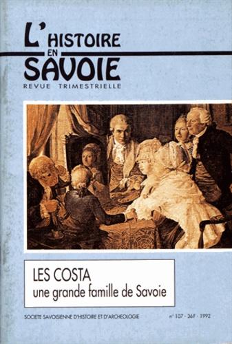 André Palluel-Guillard - Les Costa - Une grande famille de Savoie.