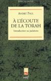 André Paul - A l'écoute de la Torah - Introduction au Judaïsme.