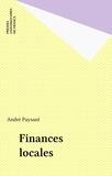 André Paysant - Finances locales.