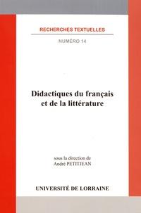 André Petitjean - Didactiques du français et de la littérature.