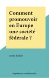 André Railliet - Comment promouvoir en Europe une société fédérale ?.