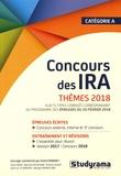 André Robinet - Concours des IRA thèmes 2018.