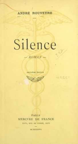 André Rouveyre - Silence.