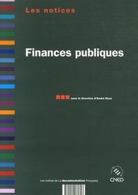 André Roux et Benoît Chevauchez - Finances publiques.
