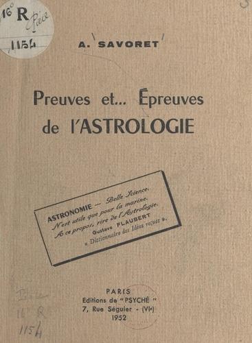 Preuves et épreuves de l'astrologie