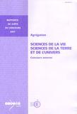 André Schaaf - Agrégation, Sciences de la vie, Sciences de la Terre et de l'Univers - Concours externe.
