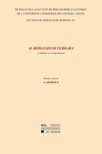 André Sempoux - Il romanzo di Ferrara - Contributi su Giorgio Bassani.