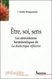 André Stanguennec - Etre, soi, sens - Les antécédences herméneutiques de La dialectique réflexive.