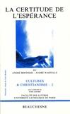 André Wartelle et André Berthier - La certitude de l'espérance.