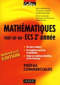 André Warusfel et Christian Gautier - Mathématiques tout-en-un ECS 2e année - Cours et exercices corrigés.