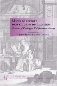 Andréa Gagnoud - Modes de lecture dans l'Europe des Lumières.