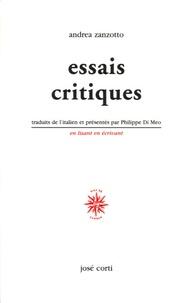 Andrea Zanzotto - Essais critiques.