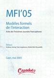 Andreas Herzig et Yves Lespérance - MFI'05 : Modèles formels de l'interaction - Actes des Troisièmes Journées Francophones, Caen, 25-27 mai 2005.