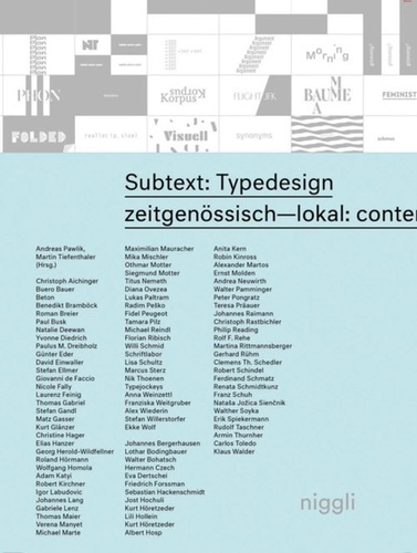 Andreas Pawlik et Martin Tiefenthaler - Subtext: Typedesign.