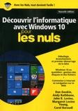 Andy Rathbone et Dan Gookin - Découvrir l'informatique avec Windows 10 pour les nuls.