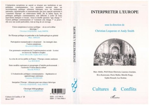 Andy Smith et Christian Lequesne - INTERPRETER L'EUROPE.