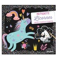 Téléchargez ebook pour mobile gratuitement Licornes  - Avec 5 cartes à gratter scintillantes, 5 coloriages, et 1 pique en bois pour gratter par Angelina de Sol