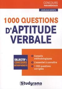 Angélique Barneto et Laurence Brunel - 1000 questions d'aptitude verbale.