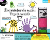 Empreintes de main : projets créatifs - Avec 1 manuel dinstructions, 4 peinture aquarelle en pots, 2 tampons dempreinte de main, 1 tablette à dessin, 2 tampons encreurs!.pdf