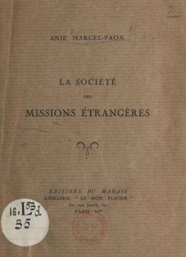 La Société des Missions Étrangères