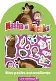 Animaccord - Mes petits autocollants Masha et Michka - Les animaux.