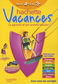 Hachette vacances de la 4e à la 3e - Ann Rocard | Showmesound.org