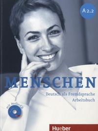 Anna Breitsameter et Sabine Glas-Peters - Menschen A2.2 - Deutsch als Fremdsprache Arbeitsbuch. 1 CD audio