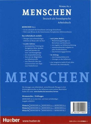 Menschen A2.2. Deutsch als Fremdsprache Arbeitsbuch  avec 1 CD audio