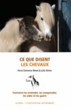 Anna Clemence Mews et Julie Dicker - Ce que disent les chevaux - Comment les entendre, les aider et les guérir.