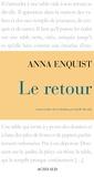 Anna Enquist - Le retour.