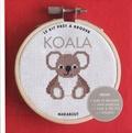 Anna Lena - Le kit prêt à broder Koala - Inclus 1 livre de broderie + 1 mini-tambour + 1 toile & des fils + 1 aiguille.