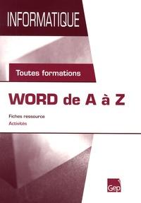 Anna Maglione - Word de A à Z - Toutes formations.