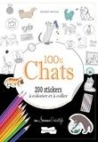 Annabel Benilan - 100 % Chats - 200 stickers à colorier.