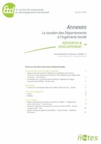 Le soutien des Départements à l'ingénierie locale- Annexes - Annabelle Boutet |