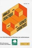 Anna Sierpinska et Alan H. Schoenfeld - Annales de didactique et de sciences cognitives N° 11/2006 : Revue + supplément.