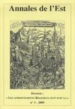 Philippe Martin - Annales de l'Est N° 1/2009 : Les affrontements religieux (XVIe-XVIIe siècles).