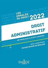 Xavier Dupré de Boulois - Annales Droit administratif 2022.