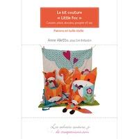 """Anne Alletto - Le kit couture """"Little Fox"""" - Coussin, plaid, doudou, poupée et sac."""