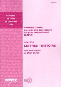 Anne Armand - CAPLP section Lettres-Histoire - Concours interne et CAER-CAPLP.