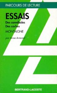 """Anne Armand - """"Essais"""", livres I et III, Montaigne."""