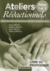 Feriasdhiver.fr Ateliers rédactionnels Bac Pro Gestion-Administration, Pôles 1 et 3 - Livre du professeur Image