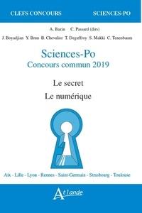 Anne Bazin et Cédric Passard - Sciences-Po, concours commun - Le secret, le numérique.