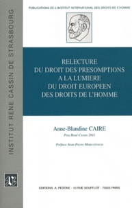 Histoiresdenlire.be Relecture du droit des présomptions à la lumière du droit européen des droits de l'homme Image