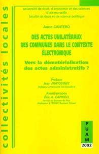 Lemememonde.fr Des actes unilatéraux des communes dans le contexte électronique - Vers la dématérialisation des actes administratifs ? Image