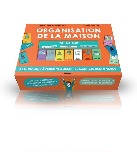 Organisation de la maison. 4 to-do lists à personnaliser et 56 magnets recto verso