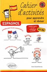 Galabria.be Espagnol, Cahier d'activités pour apprendre et réviser - Activités basées sur les 5 compétences du CECRL, A1-A2 Image