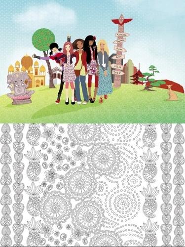 Coloriages du monde Kinra Girls